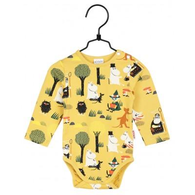 Боди Moomin Лесная прогулка Yellow р.62