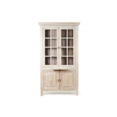 Сервант двухдверный (двери стекло) Ivory