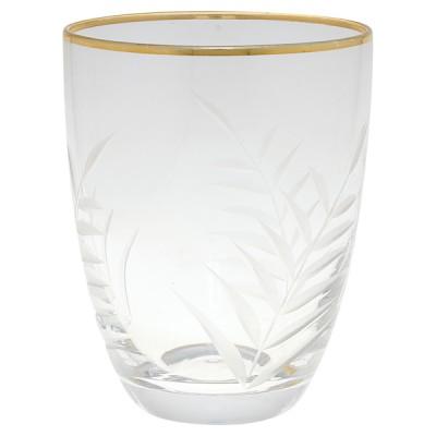 Стакан стеклянный с золотой каймой
