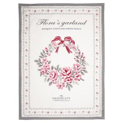 Полотенце Flora white piece printed 50x70 см