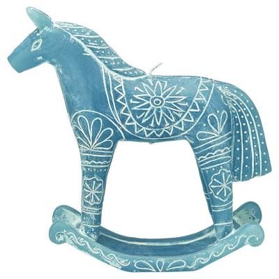 Свеча Horse dusty blue L