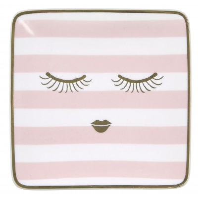 Тарелка квадратная Stripes 12х12 см