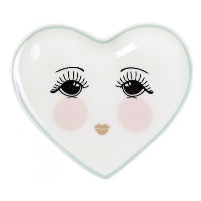 Тарелка в форме сердца Candy Open eyes 12х11 см
