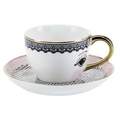 Кофейная пара эспрессо Lace with saucer