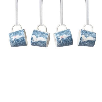 Набор декоративных чашек Moomin, Легкий снегопад