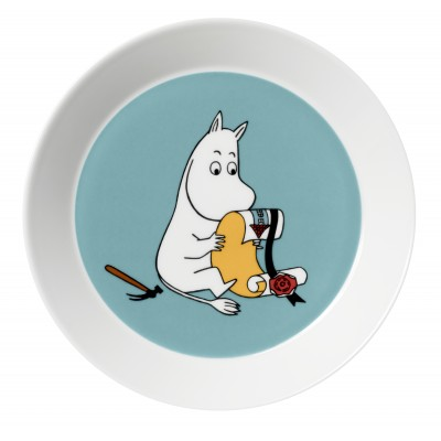 Тарелка Moomin, Мумитроль бирюзовая, 19см