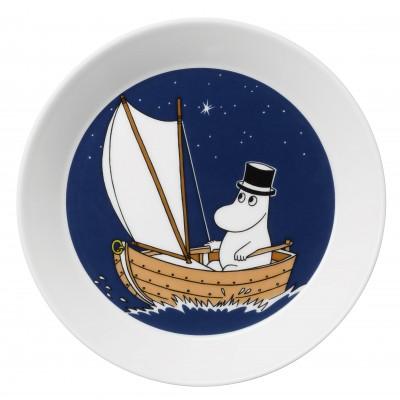 Тарелка Moomin, Муми-папа синяя, 19см
