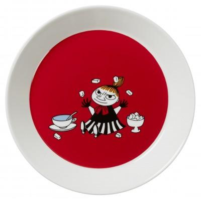Тарелка Moomin, Малышка Мю красная, 19см