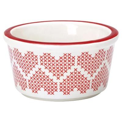 Рамекин, горшочек для запекания Greengate  Micha red D10,5 cm