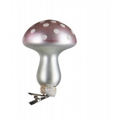 Елочная игрушка Mushroom pink