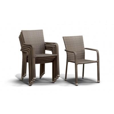 'Руджо' стул серо-коричневый
