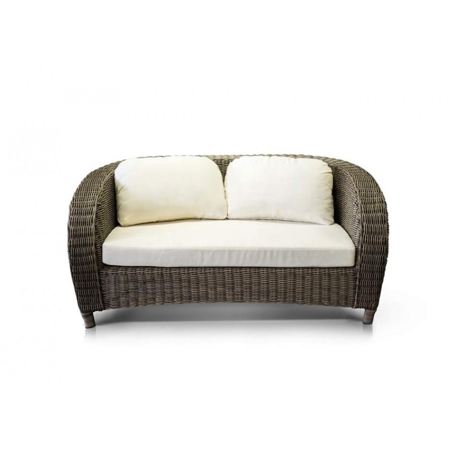 'Римини' диван двухместный серо - коричневый