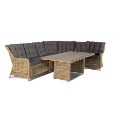 Бергамо, плетеный круглый диванный модуль