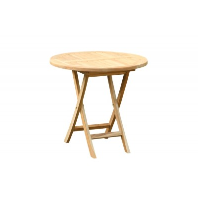 'Асти' круглый стол из тика 80см
