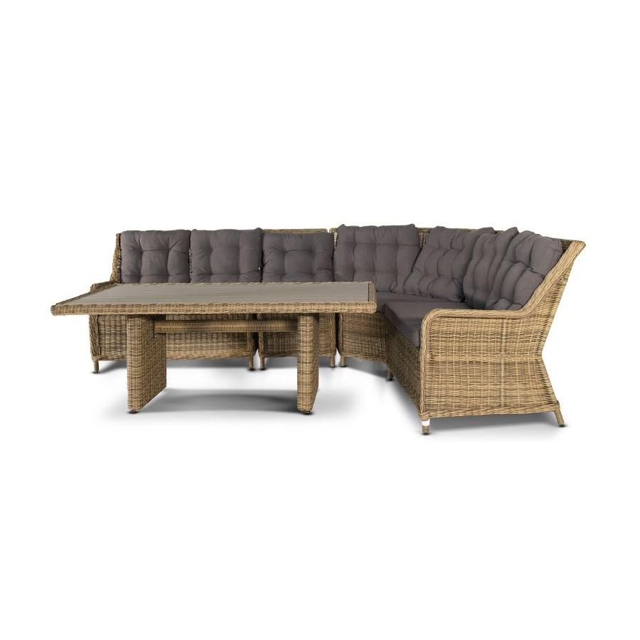 Бергамо, плетеный правый модуль дивана