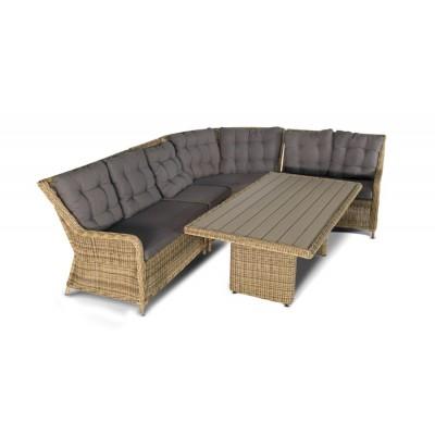 Бергамо, плетеный центральный модуль дивана