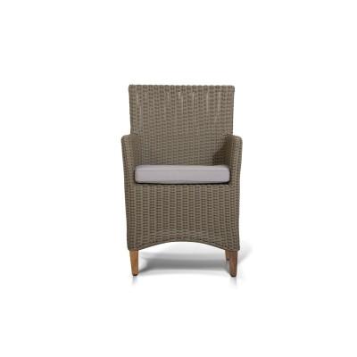 'Пестум'  кресло светло-серое с серой подушкой