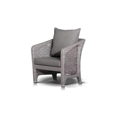 'Лабро' кресло  из искусственного ротанга  серое