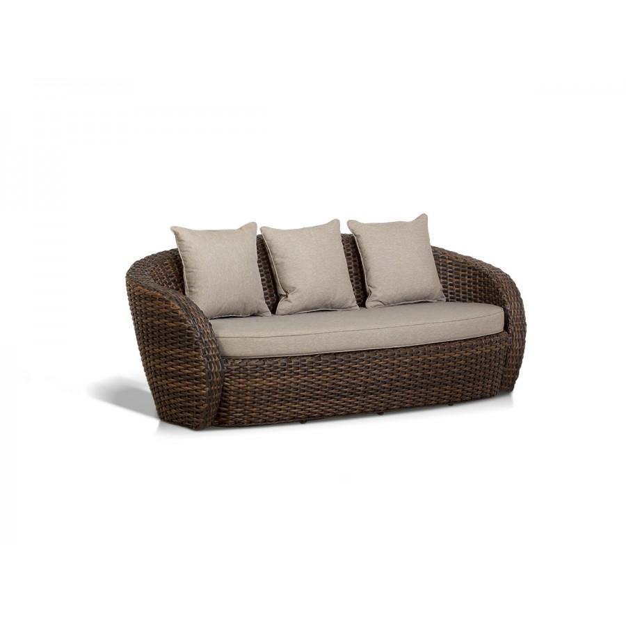 'Авела', диван трехместный,  темно-коричневый