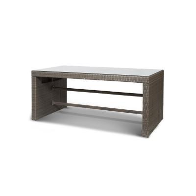 'Лекко' стол серо - коричневый
