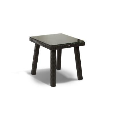 'Капри' стол к шезлонгу черный