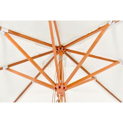 'Джулия', зонт деревянный на центральной опоре, бежевый