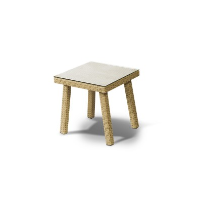 'Капри' стол к шезлонгу серо-желтый