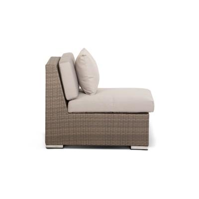 'Беллуно' модуль прямой серо - коричневый с темно-серыми подушками