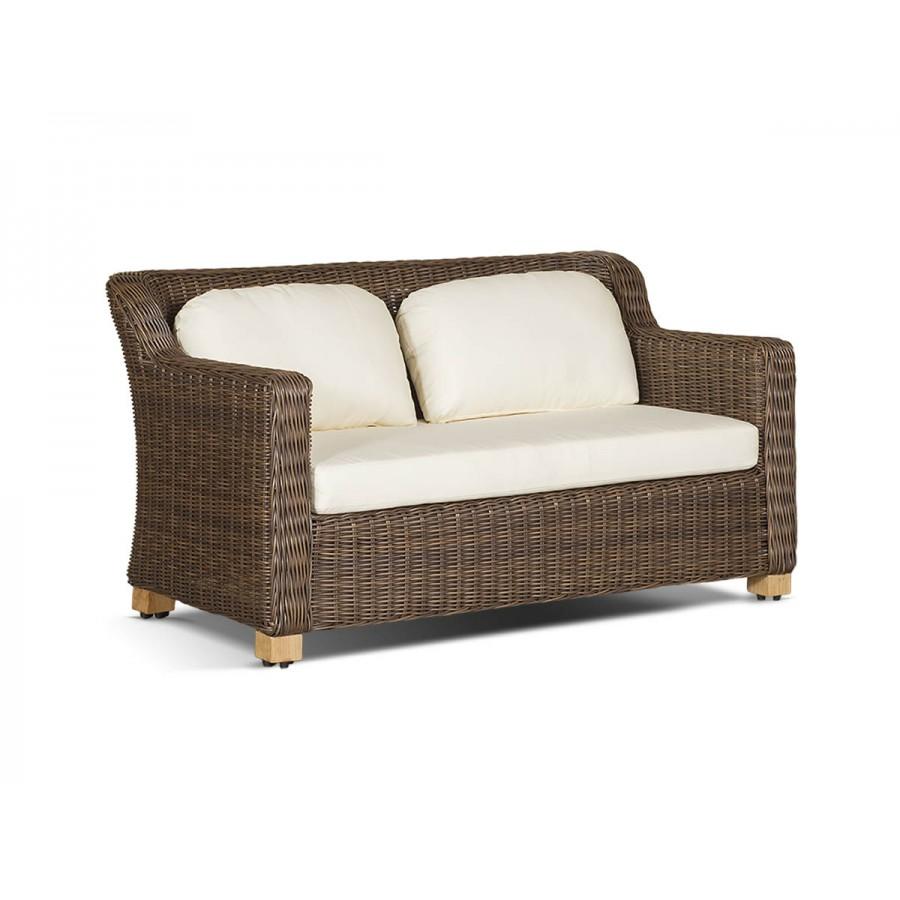 'Либрари' диван двухместный коричневый