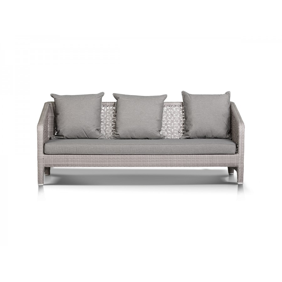 'Лабро'  диван трехместный серый