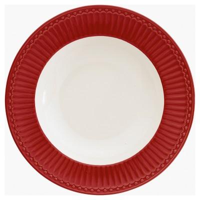 Глубокая тарелка Alice red 21,5 см