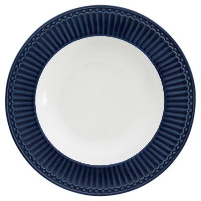 Глубокая тарелка Alice dark blue 21,5 см