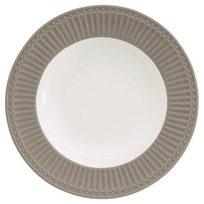 Глубокая тарелка Alice warm grey 21,5 см