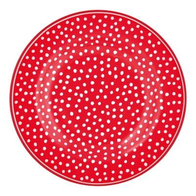 Десертная тарелка Dot red 15 см