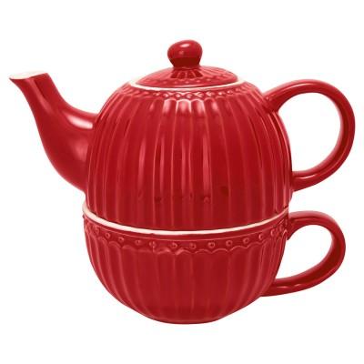 Чайник с чашкой Alice red 500 мл/ 250 мл
