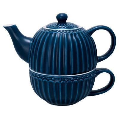 Чайник с чашкой Alice dark blue 500 мл/ 250 мл