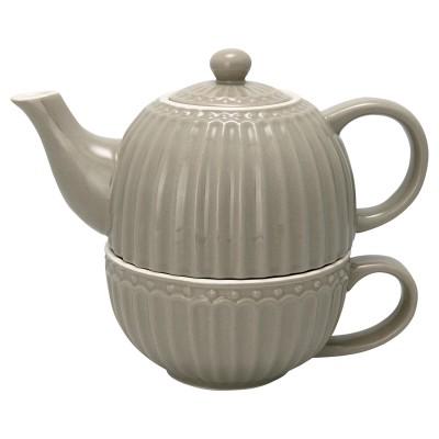 Чайник с чашкой Alice warm grey 500 мл/ 250 мл
