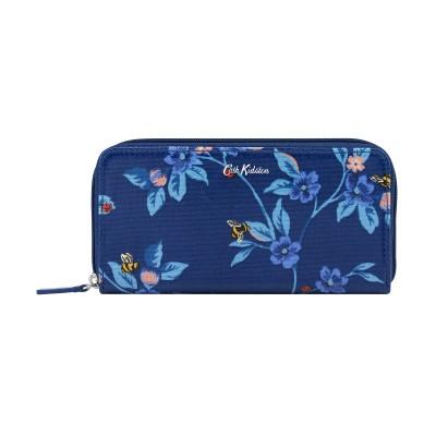 Кошелек континентальный Greenwich Flowers Midnight Blue