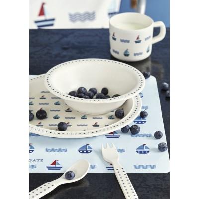 Набор детской посуды из 4-х предметов Noah blue
