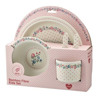 Набор детской посуды из 4-х предметов Ruby petit white