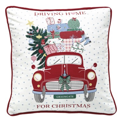 Наволочка Christmas Car red pieceprinted 40x40 см