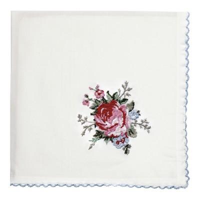 Салфетка Aurelia white с вышивкой 40x40 см