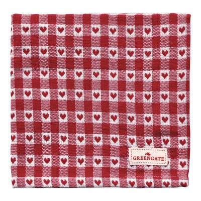 Салфетка Heart petit red 40x40 см