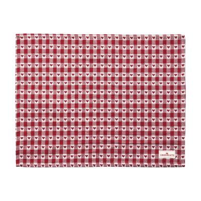 Салфетка на стол Heart petit red 35x45 см