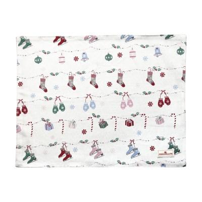 Салфетка на стол Jingle bell white 35x45 см