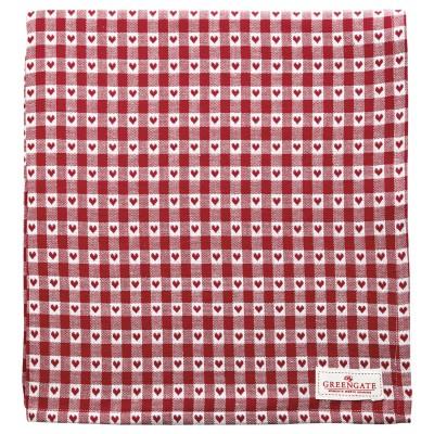Скатерть Heart petit red 150x150 см