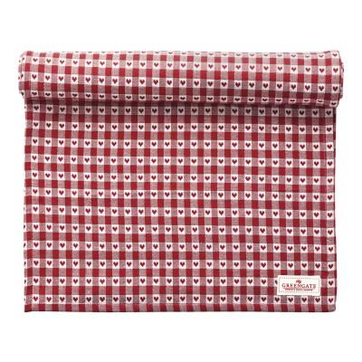 Столовая дорожка Heart petit red 45x140 см