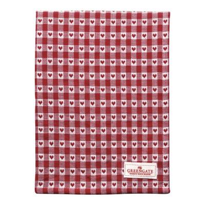 Полотенце Heart petit red 50x70 см