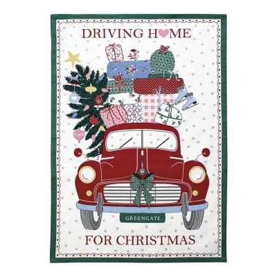 Полотенце Christmas car red piece printed 50x70 см