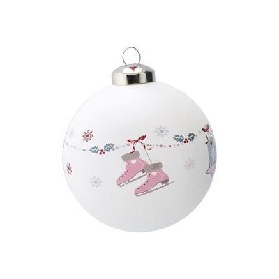 Новогодний шар Jingle bell white